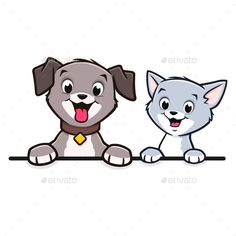 Cartoon Dog Cat Animal Frame  Border