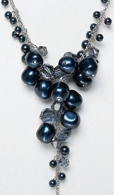 Beaded Y necklace