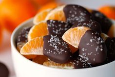 Chocolate Dipped Clementines by Deliciously Yum!