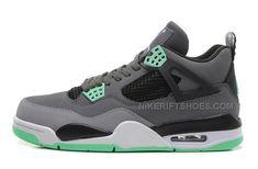 d0d3e361c3f8 Air Jordan 4 (IV) Retro Dark Grey Green Glow-Cement Grey-Black