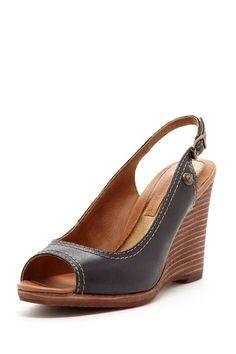 Calvin Klein Olan Burnished Wedge Sandal