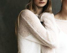 suzybonomini knitwear made in the UK by suzybonomini on Etsy Loose Knit Sweaters, Merino Wool Sweater, Wool Sweaters, Crop Top And Shorts, Sweater And Shorts, Wedding Wraps, Wedding Ideas, Brother Knitting Machine, Wedding Shawl
