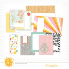 Free Brighton Pier Printable Journal Cards at @studio_calico {store checkout required}