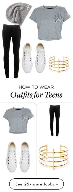 """:3"" by kirovaliza on Polyvore featuring rag & bone, New Look, Converse and BauXo"