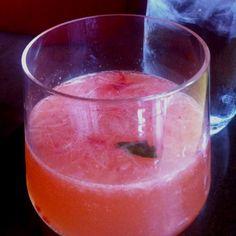 Spanish fly cocktail at Mercat a la Planxa. Strawberry, basil, vodka.