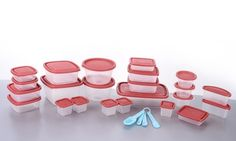 Get your kitchen game together with this fifty-piece set of storage containers with an added measuring spoon set just for kicks