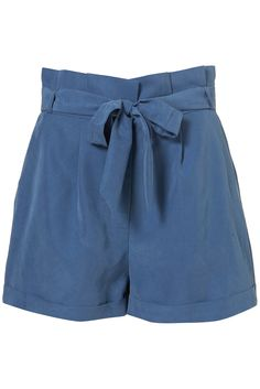 Petite Cupro paperbag shorts