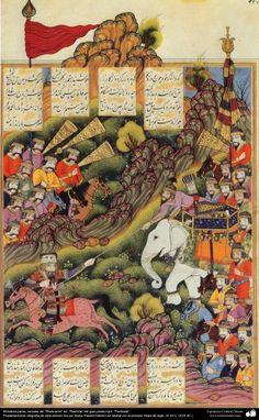 Miniatura persa, tomada del Shahname ed. Rashida del gran poeta iraní, Ferdowsi (12)