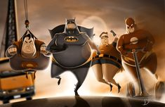 Funny Illustration Shows What Superheroes Would Be Like If They Were Fat - http://designtaxi.com/news/358962/Funny-Illustration-Shows-What-Superheroes-Would-Be-Like-If-They-Were-Fat/