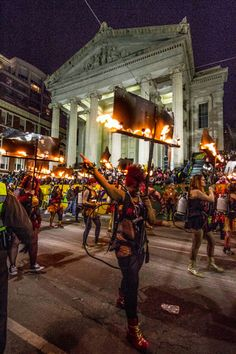Muses First Female Flambeau Carriers, NOLA Mardi Gras 2014, by Roy Guste