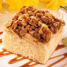 Serve up squares of this cinnamon-spiced apple cake tonight, then enjoy the leftovers for breakfast tomorrow morning.