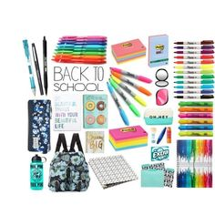 Online shopping for Girls' Back-to-School Essentials from a great selection at Clothing, Shoes & Jewelry Store. Middle School Supplies, School Supplies Cake, School Supplies Highschool, School Supplies Organization, Backpack Organization, School Goals, Life Hacks For School, School Suplies, Stationary School