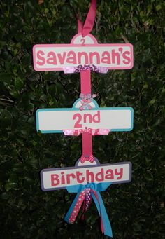 Abby Cadabby/Sesame Street Birthday Party Sign by YourPartyShoppe, $15.00