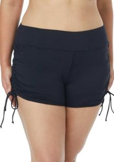 47de1e58d3 Beach House Women's Plus Size Blake Adjustable Swim Shorts - Black - 20W