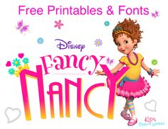 Looking for Ideas for Kids Birthday Parties? We have fun ideas for party games, unique party favors, printable invitations, kids birthday cakes, party food and lots more for an awesome party. 5th Birthday Party Ideas, Tea Party Birthday, Girl Birthday, Kid Fonts, Unique Party Favors, Party Invitations Kids, Fancy Nancy, Disney, Pretty