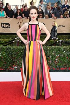 As Expected, The SAG Awards Red Carpet Did Not Disappoint #refinery29  http://www.refinery29.com/2017/01/138352/best-dressed-celebrities-sag-awards-2017#slide-1  Thank you, Michelle Dockery, for giving us just the dose of color we needed to spice up tonight's style bonanza. We're sticking this Elie Saab number to our summer mood boards, stat....