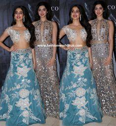 Janhvi Kapoor and Khushi Kapoor in Manish Malhotra | Fashionworldhub