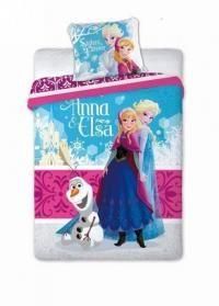 Lenjerie de pat Disney Frozen Ana si Elsa 160 x 200 cm