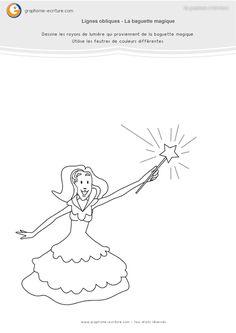 exercice-fiche- graphisme-écriture-moyenne-section-ms-traits-lignes-obliques-un-coup-de-baguette-magique