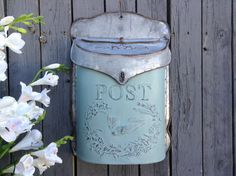 Hey, I found this really awesome Etsy listing at https://www.etsy.com/uk/listing/267125994/galvanized-metal-post-box-in-french