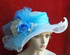 Wide Brim Victorian Hat, Kentucky Derby - Tea Party. $62.00, via Etsy.