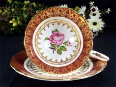 Stunning Cabinet Royal Stafford Cup and Saucer by TheVintageTeacup