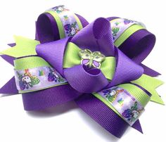 Hello Kitty Butterfles Girls hair bow clip or head by CreateAlley, $8.99