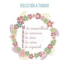 Festeja a mamá con estas frases bonitas. | día de las madres frases | día de las madres felicidades | frases para mamá gracias | #díadelamadre Daughter Quotes, Mom Quotes, Spanish Mothers Day, Tree Branches, Gifts For Mom, Art Pieces, Place Card Holders, Cards, Mayo