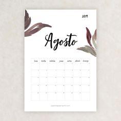 calendario 2019 agosto Bullet Journal Font, Journal Fonts, Diy Calendario, Moon Painting, Typography, Lettering, Girl Meets World, School Hacks, Planner