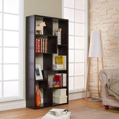 Kitan Modern Leveled Display Stand/Bookcase, Brown
