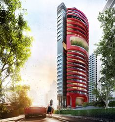 pininfarina is not only designing & coach-building cars but also buildings .  ferra luxury residential condo in singapore by pininfarina