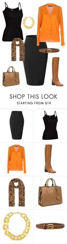 """orange story 4"" by cokie61 on Polyvore featuring LE3NO, Icebreaker, Sofie D'hoore, Jil Sander Navy, Accessorize, Nine West, Stephanie Kantis and Gucci"