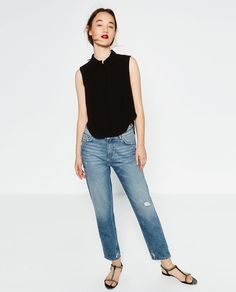 Image 1 of SLEEVELESS SHIRT from Zara