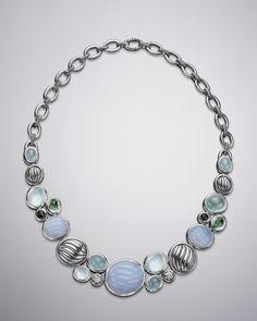 David Yurman - Mosaic Necklace, Blue Chalcedony
