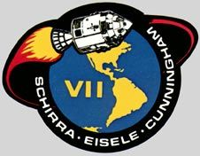 Today in 1968 – Apollo program: NASA launches Apollo the first successful manned Apollo mission, with astronauts Wally Schirra, Donn F. Eisele and Walter Cunningham aboard. Apollo 9, Apollo Space Program, Nasa Space Program, Nasa Missions, Apollo Missions, Space Projects, Space Crafts, Programa Apollo, Space Patch