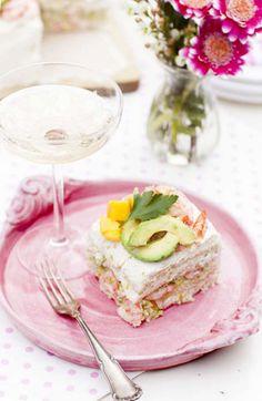 Smörgåstårta med skaldjur & philadelphia - Mitt kök