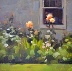 Curious Roses - Original Fine Art for Sale - © by Carol Marine