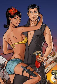 Archer: Season 2, FX Networks : Martin Ansin, Illustrator   Illustration Portfolio