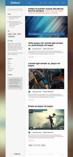 Fresh PSD Website Templates