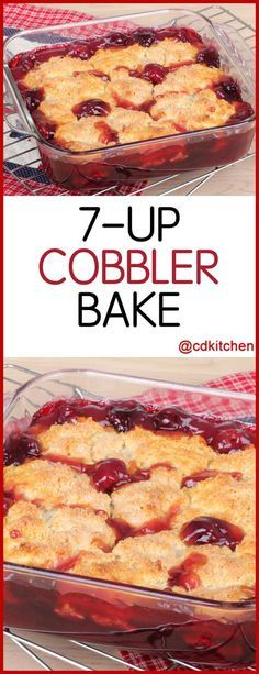 Cobbler Bake A delicious dessert with only three ingredients Cherry pie filling is topped with dry yellow cake mix and soda is poured over the top then baked until done CDKitchen com is p - Beaux Desserts, Cake Mix Desserts, Oreo Dessert, Cherry Desserts, Köstliche Desserts, Cherry Pie Filling Desserts, Cake Mix And Pie Filling Recipe, Cherry Pie Recipes, Cherry Pie Fillings