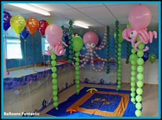 Underwater Baby Shower Theme | Whatever the event Balloons Funtastic can create a party atmosphere or ...
