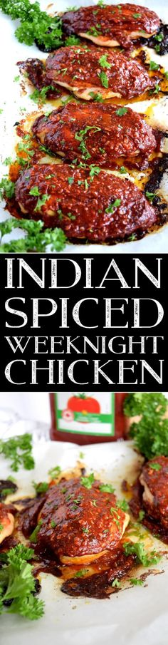 Indian Spiced Weeknight Chicken – Lord Byron's Kitchen Slightly sweet with a little heat, this easy Indian Spiced Weeknight Chicken is sure to please the pickiest member of your family. With just a few basic ingredients, you can transform a. Easy Chicken Recipes, Turkey Recipes, Easy Dinner Recipes, Great Recipes, Easy Recipes, Beef Recipes, Yum Yum Chicken, Quick Easy Meals, Food Dishes
