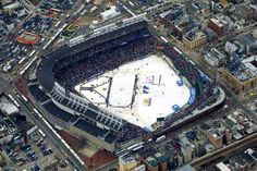 ... blackhawks detroit red wings nhl outdoor rink winter classic wrigley