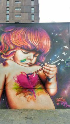 Creative and great Paris Street Art & Buildings – Quarter – Graffiti World 3d Street Art, Urban Street Art, Best Street Art, Murals Street Art, Amazing Street Art, Street Art Graffiti, Street Artists, Graffiti Kunst, Urban Graffiti