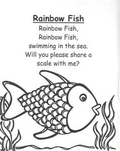 Rainbow Fish Coloring Page Rainbow Fish Coloring Page. Rainbow Fish Coloring Page. Rainbow Fish Template in fish coloring page Get This Printable Rainbow Fish Coloring Sheets for Kids The Rainbow Fish, Rainbow Fish Template, Rainbow Fish Story, Kids Rainbow, Rainbow Swirl, Rainbow Colors, Kindergarten Poems, Preschool Songs, Preschool Worksheets