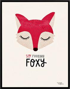 So fucking foxy - Michelle Carlslund Illustration