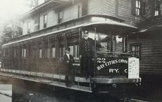 An early, open-air Bay City streetcar circa 1895.  In 1895, capable of reaching speeds of 80 mph, an all electric interurban ran between Bay City, Saginaw, Flint, Detroit and Cincinnati. Old timers recall trips between Bay City and Saginaw were faster than travelling by the interstate highway