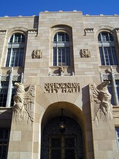 """""""Old"""" Phoenix City Hall designed 1928 by Lescher & Mahoney and Edward Nield."""