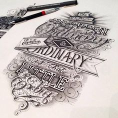 Fantastic and unique lettering work from Maksim Lopez