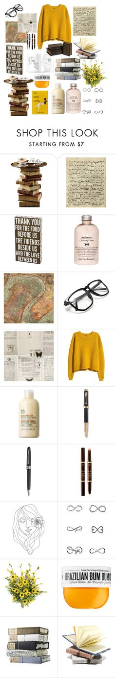 """Lazy Day"" by yuliabaylor ❤ liked on Polyvore featuring Art Classics, WALL, H&M, The Body Shop, Parker, Montblanc, Tom Ford, PBteen, Tattify and Sol de Janeiro"